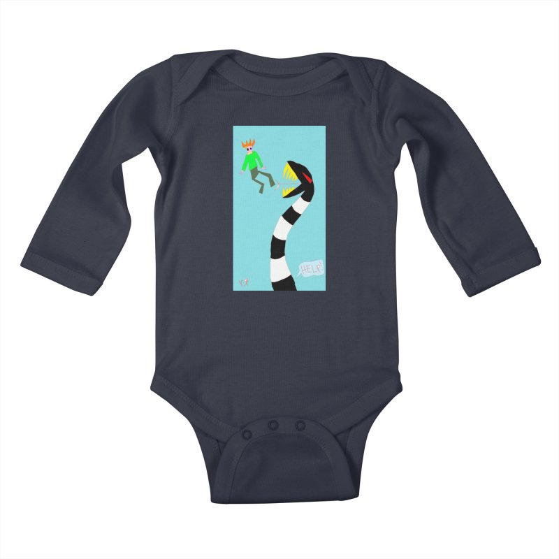 """""""Exploring the Unknown"""" by Richard F. Yates Kids Baby Longsleeve Bodysuit by The Primitive Entertainment Workshop!"""