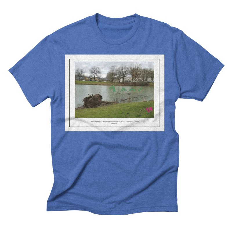 """""""Sacky Sighting (Fancy)"""" by Richard F. Yates Men's T-Shirt by The Primitive Entertainment Workshop!"""