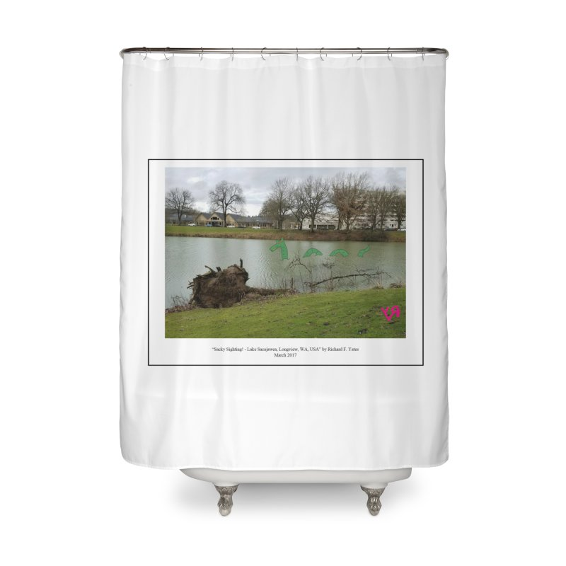 """""""Sacky Sighting (Fancy)"""" by Richard F. Yates Home Shower Curtain by The Primitive Entertainment Workshop!"""