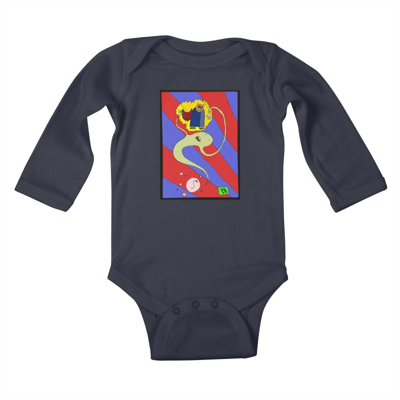 """The Dangers of Travel by Thought Bubble"" by Richard F. Yates Kids Baby Longsleeve Bodysuit by The Primitive Entertainment Workshop!"