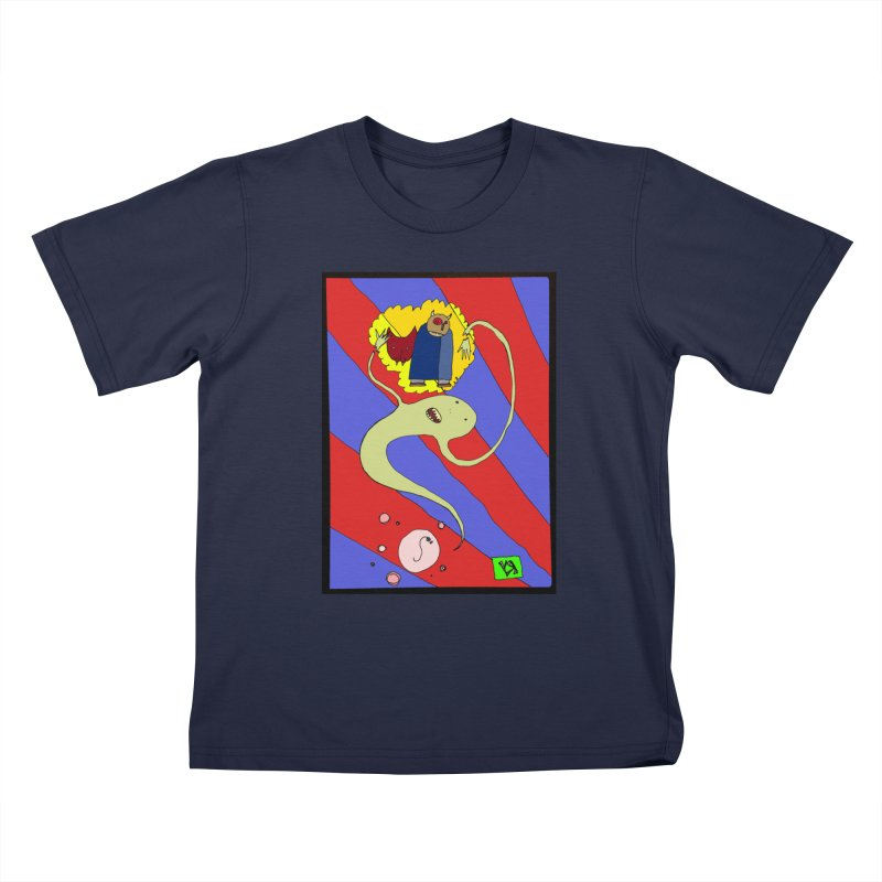 """""""The Dangers of Travel by Thought Bubble"""" by Richard F. Yates Kids T-Shirt by The Primitive Entertainment Workshop!"""