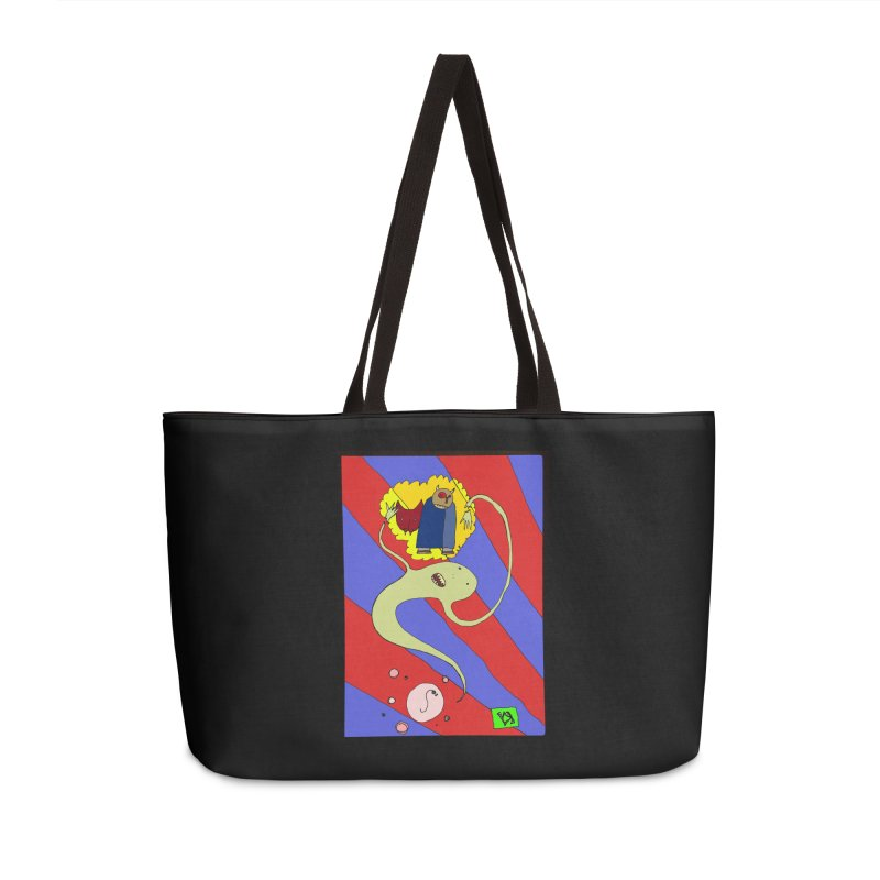 """""""The Dangers of Travel by Thought Bubble"""" by Richard F. Yates Accessories Bag by The Primitive Entertainment Workshop!"""