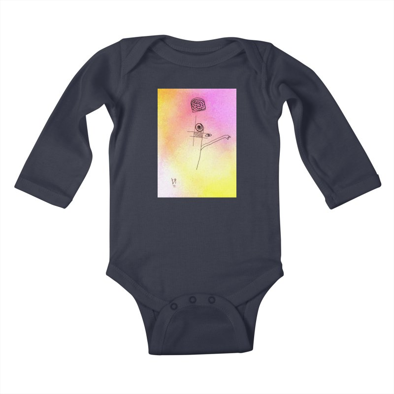 """Losin' Yo Mind"" by Richard F. Yates Kids Baby Longsleeve Bodysuit by The Primitive Entertainment Workshop!"