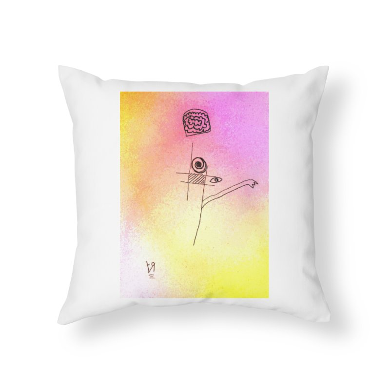 """""""Losin' Yo Mind"""" by Richard F. Yates Home Throw Pillow by The Primitive Entertainment Workshop!"""