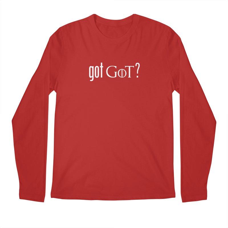 got GoT? Men's Longsleeve T-Shirt by printpaws's Artist Shop
