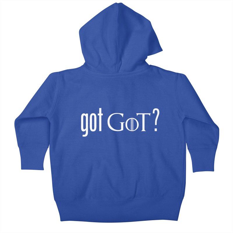 got GoT? Kids Baby Zip-Up Hoody by printpaws's Artist Shop