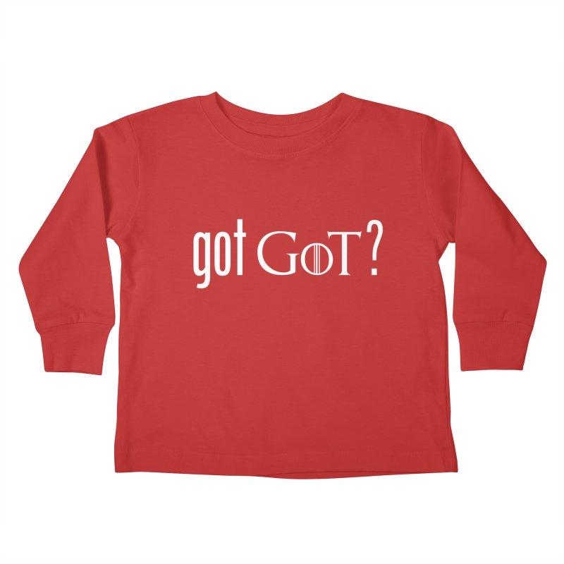 got GoT? Kids Toddler Longsleeve T-Shirt by printpaws's Artist Shop