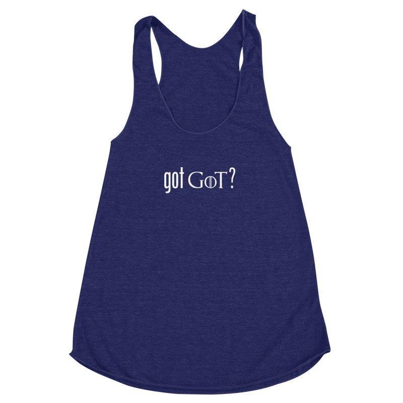 got GoT? Women's Racerback Triblend Tank by printpaws's Artist Shop
