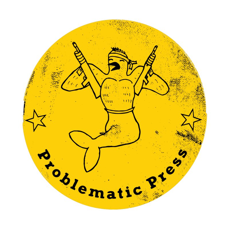 PROBLEMATIC PRESS - LOGO - WEATHERED YELLOW Women's V-Neck by Problematic Press - Operation: MERC(H)ANARY
