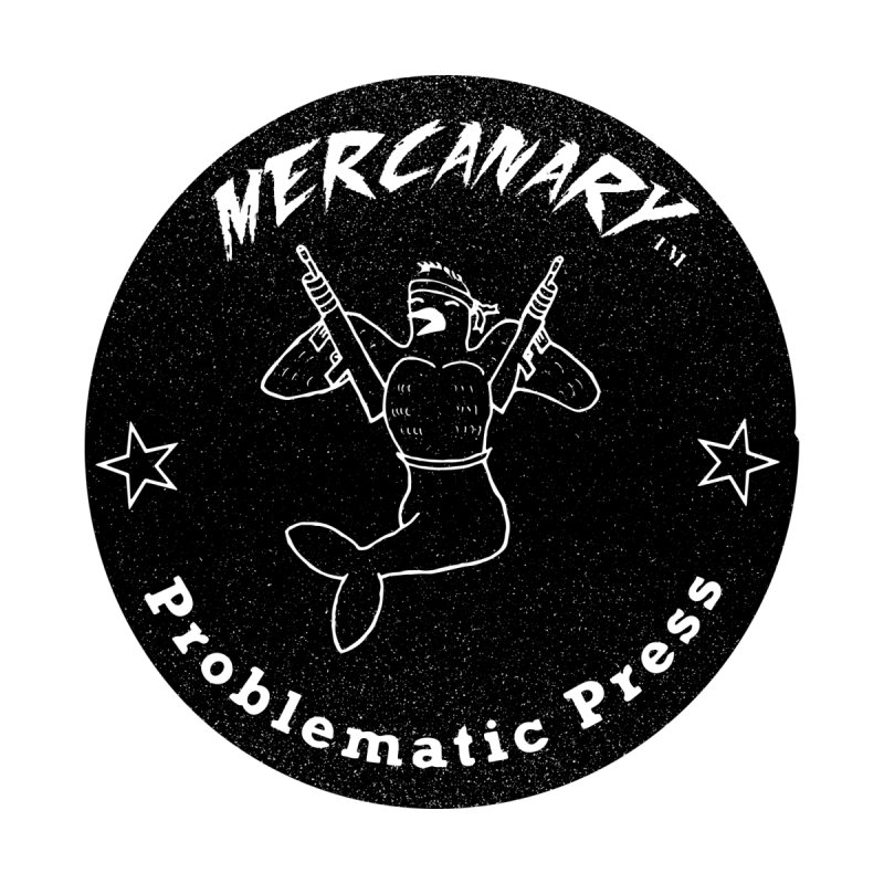 MERCANARY - LOGO - GRITTY BLACK Women's Pullover Hoody by Problematic Press