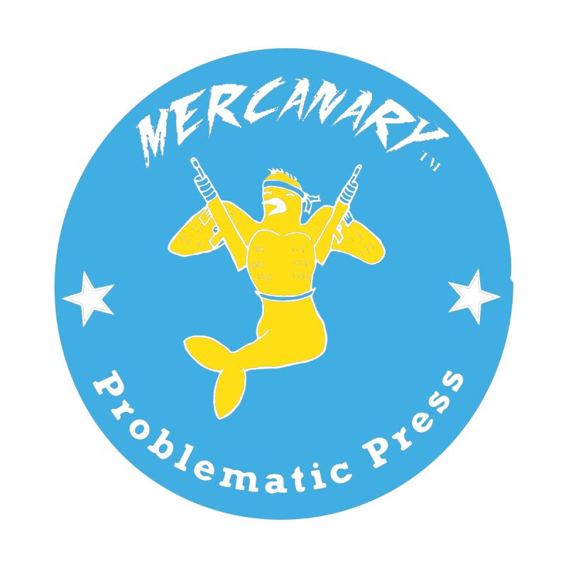 MERCANARY - LOGO - BLUE & YELLOW Women's Zip-Up Hoody by Problematic Press - Operation: MERC(H)ANARY
