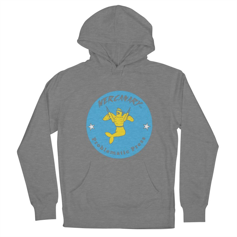 MERCANARY - LOGO - BLUE & YELLOW Women's Pullover Hoody by Problematic Press