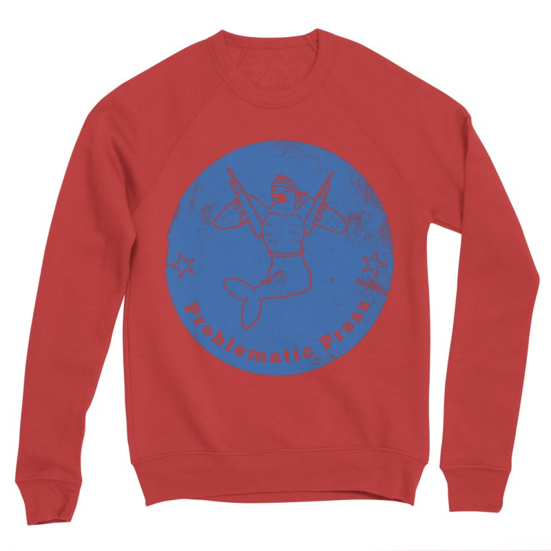 PROBLEMATIC PRESS - LOGO - WEATHERED BLUE Men's Sweatshirt by Problematic Press
