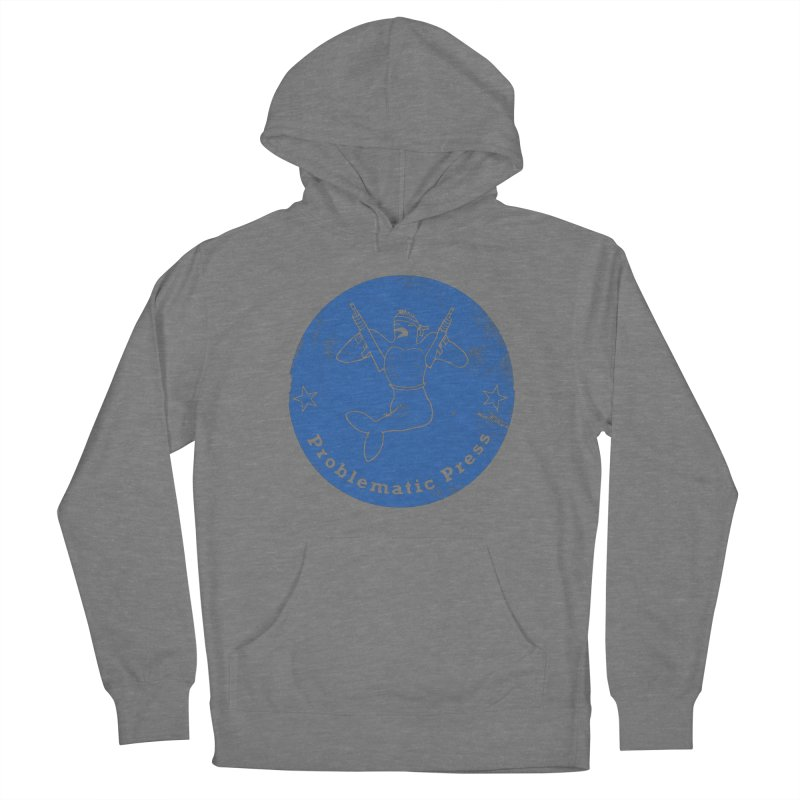 PROBLEMATIC PRESS - LOGO - WEATHERED BLUE Women's Pullover Hoody by Problematic Press