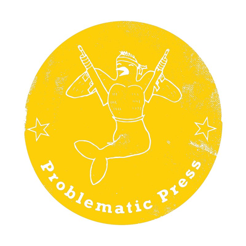 PROBLEMATIC PRESS - LOGO - ALTERNATE WEATHERED YELLOW Women's Pullover Hoody by Problematic Press
