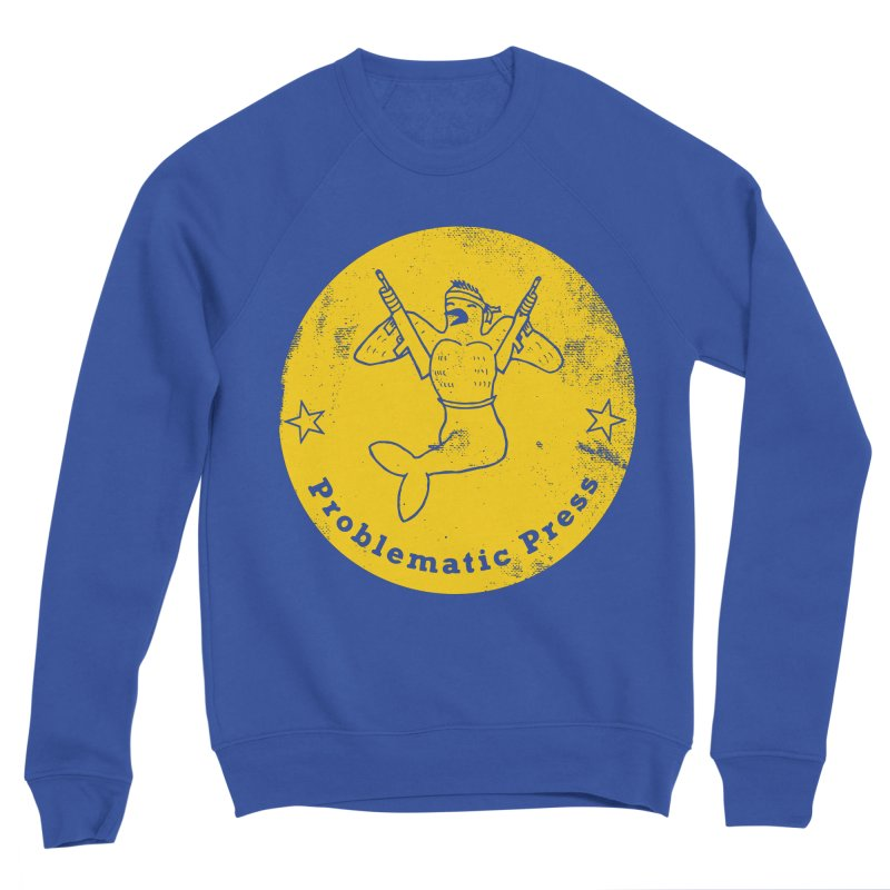PROBLEMATIC PRESS - LOGO - ALTERNATE WEATHERED YELLOW Men's Sweatshirt by Problematic Press