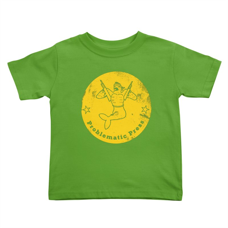 PROBLEMATIC PRESS - LOGO - ALTERNATE WEATHERED YELLOW Kids Toddler T-Shirt by Problematic Press - Operation: MERC(H)ANARY