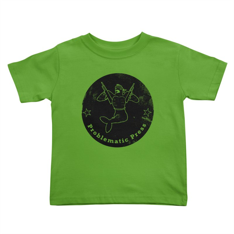 PROBLEMATIC PRESS - LOGO - GRITTY BLACK Kids Toddler T-Shirt by Problematic Press - Operation: MERC(H)ANARY