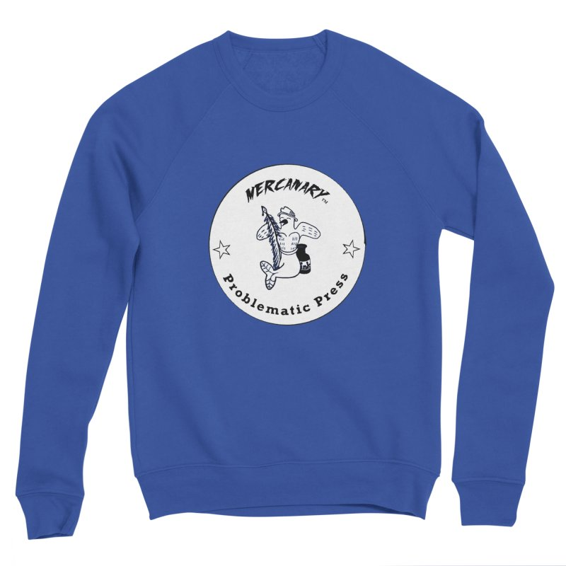 MERCANARY LOGO - Black and White Men's Sweatshirt by Problematic Press