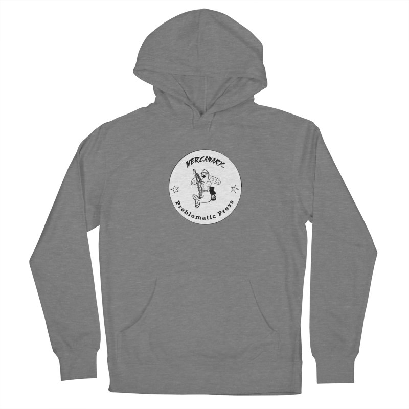 MERCANARY LOGO - Black and White Women's Pullover Hoody by Problematic Press