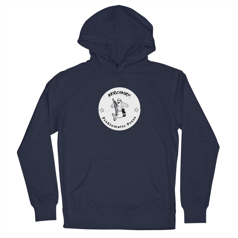 MERCANARY LOGO - Black and White Men's Pullover Hoody by Problematic Press