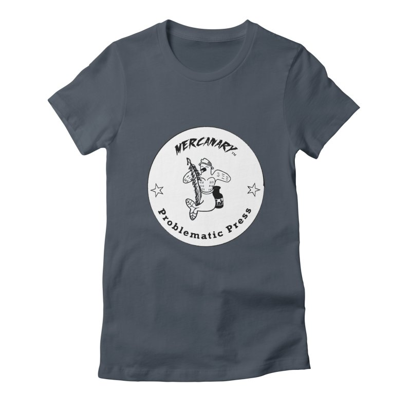 MERCANARY LOGO - Black and White Women's T-Shirt by Problematic Press