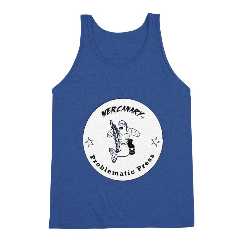 MERCANARY LOGO - Black and White Men's Tank by Problematic Press