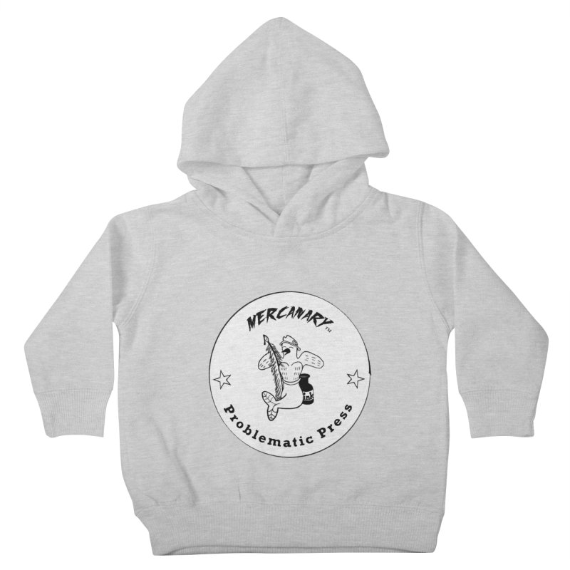 MERCANARY LOGO - Black and White Kids Toddler Pullover Hoody by Problematic Press