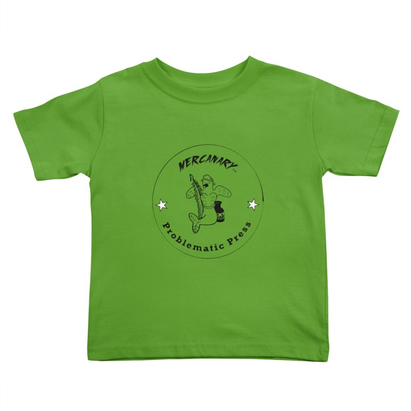 MERCANARY LOGO - Black Lines and White Stars Kids Toddler T-Shirt by Problematic Press - Operation: MERC(H)ANARY
