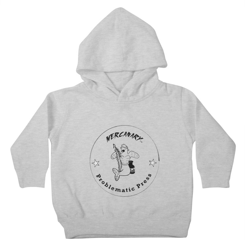 MERCANARY LOGO - Black Lines and White Stars Kids Toddler Pullover Hoody by Problematic Press