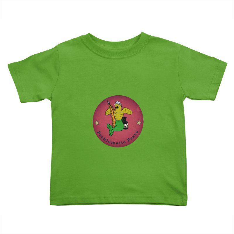 PROBLEMATIC PRESS Logo with MERCANARY™ in Full Colour Kids Toddler T-Shirt by Problematic Press - Operation: MERC(H)ANARY