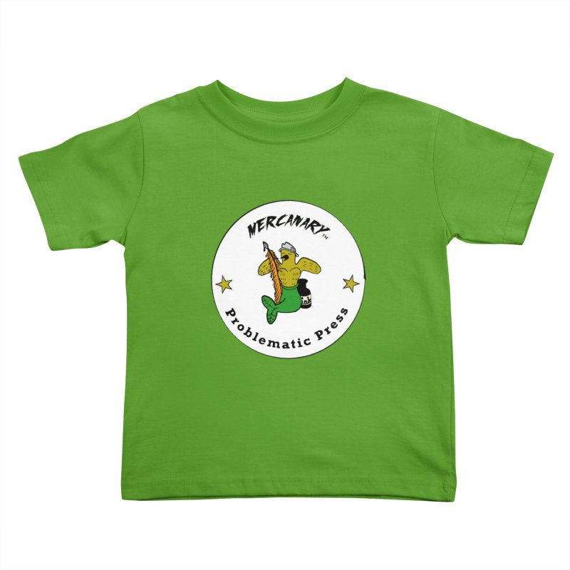 MERCANARY™ Logo with Canary Stars Kids Toddler T-Shirt by Problematic Press - Operation: MERC(H)ANARY