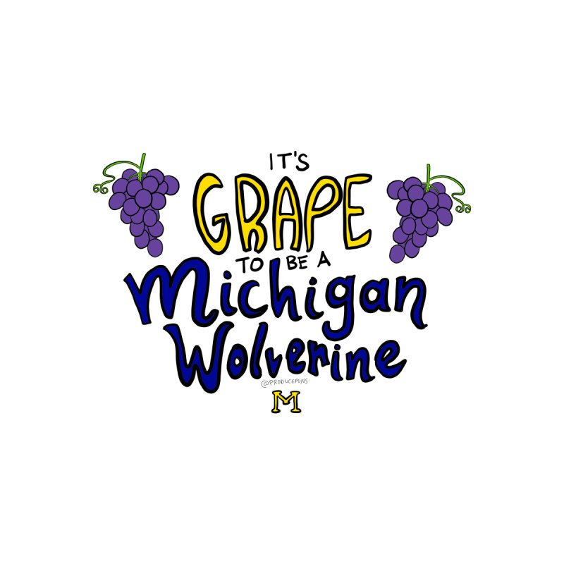 It's GRAPE to be a Michigan Wolverine Women's V-Neck by Produce Puns