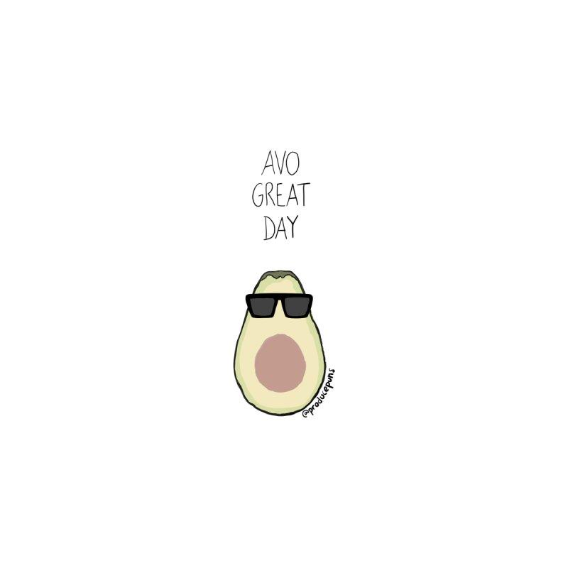 Avo Great Day Kids Baby Bodysuit by Produce Puns