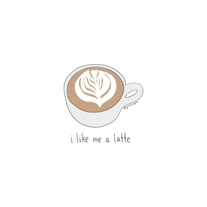 I Like Me A Latte Accessories Magnet by Produce Puns