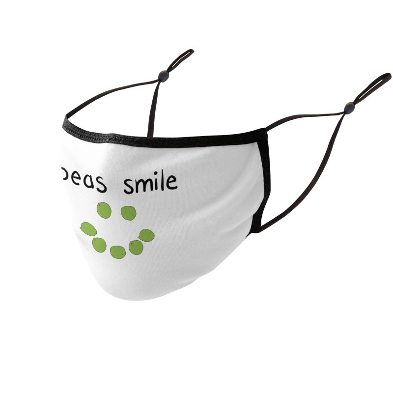 PEAS Smile Face Mask Accessories Face Mask by Produce Puns