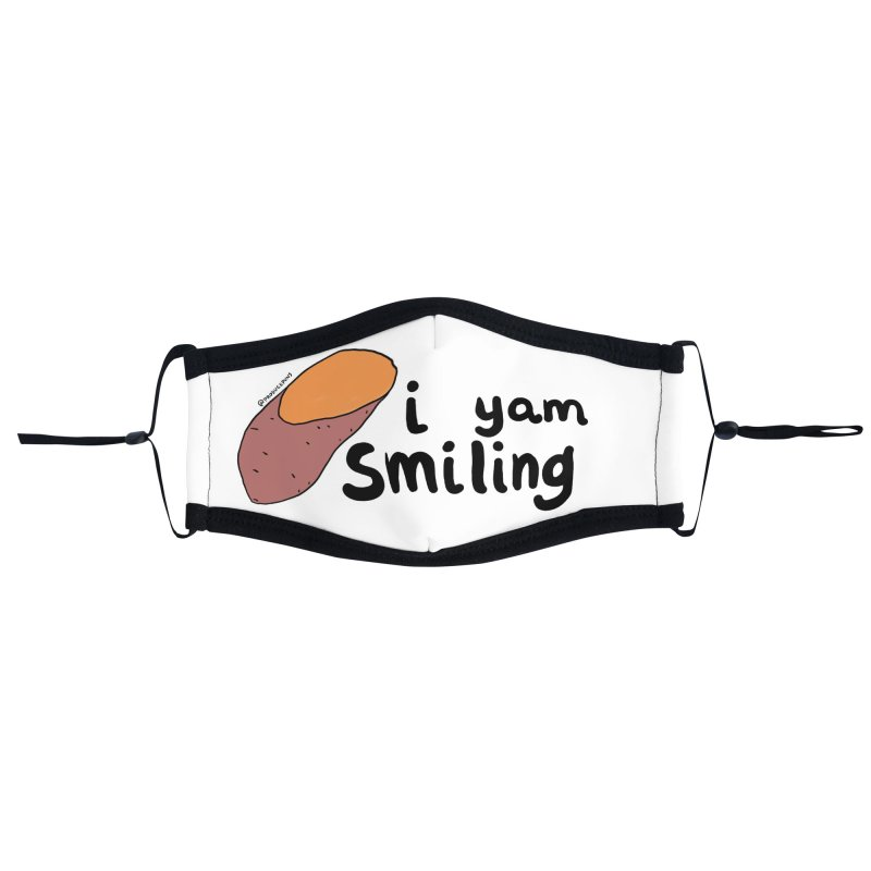 I YAM Smiling Face Mask Accessories Face Mask by Produce Puns