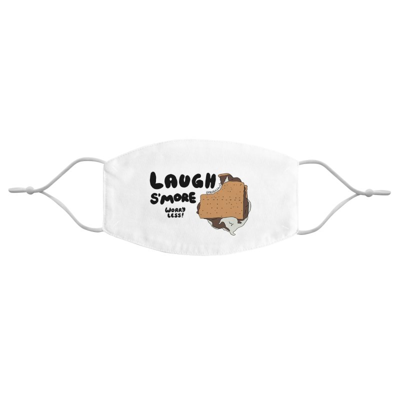 Laugh SMORE Worry Less Face Mask Accessories Face Mask by Produce Puns