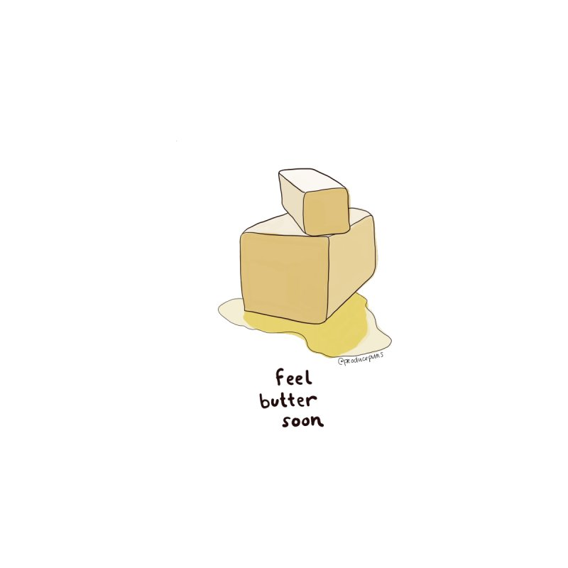Feel Butter Soon Accessories Greeting Card by Produce Puns