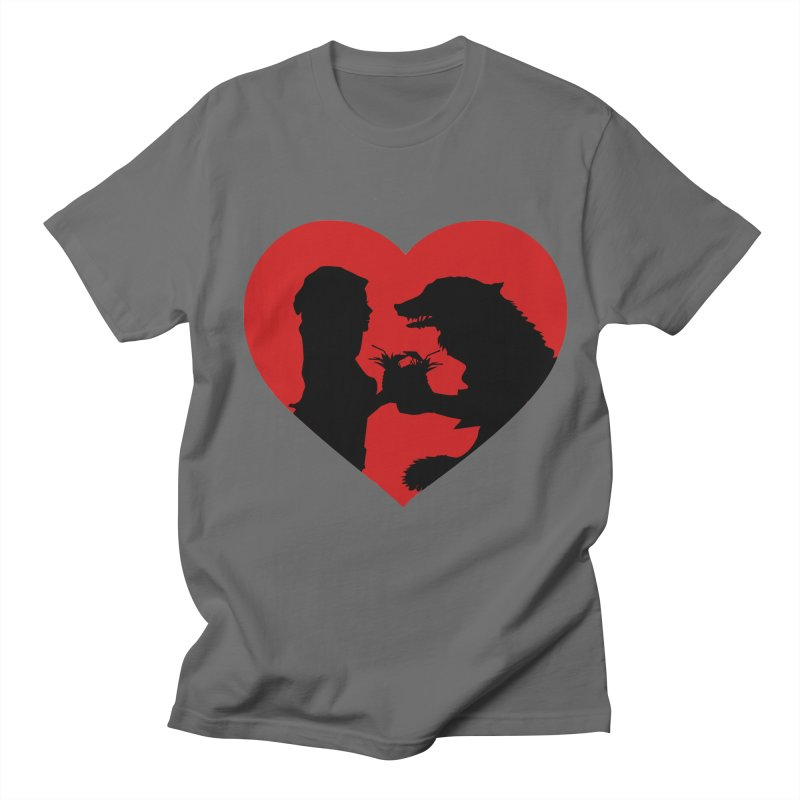 The wolf and older red riding hood love Men's T-Shirt by Producer original ideas on tees and accesories
