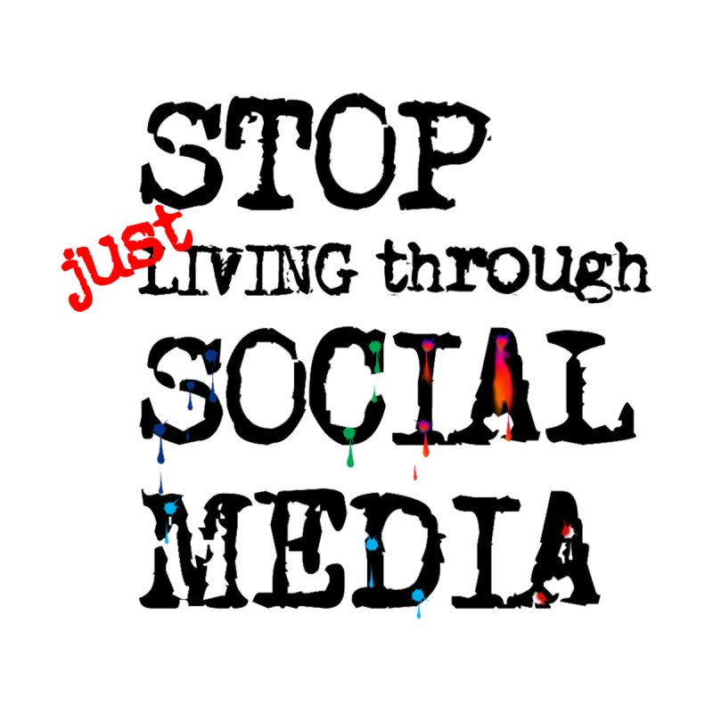 Stop living only in social media Men's Pullover Hoody by Producer original ideas on tees and accesories