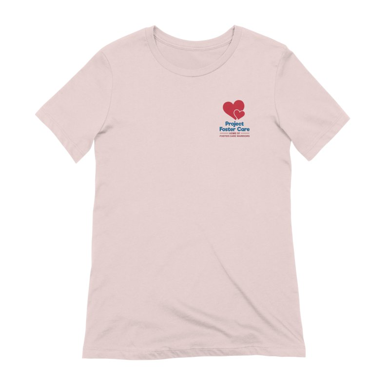 Logo Products in Women's Extra Soft T-Shirt Soft Pink by Project Foster Care - Home of Foster Care Warriors