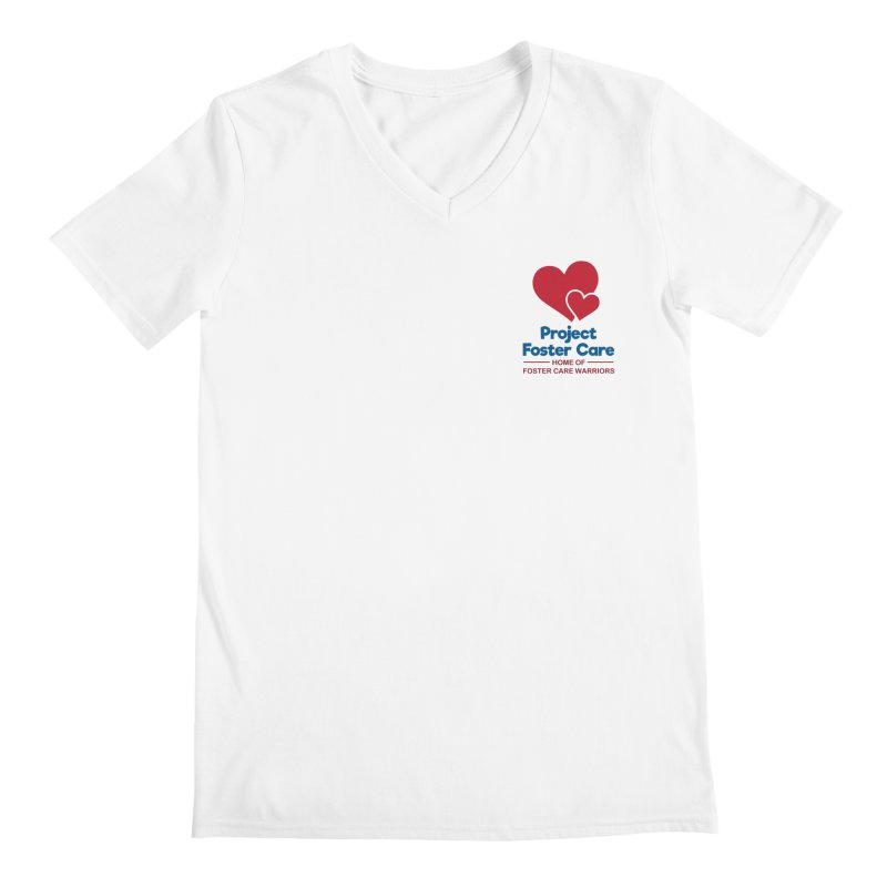 Logo Products Men's V-Neck by Project Foster Care - Home of Foster Care Warriors