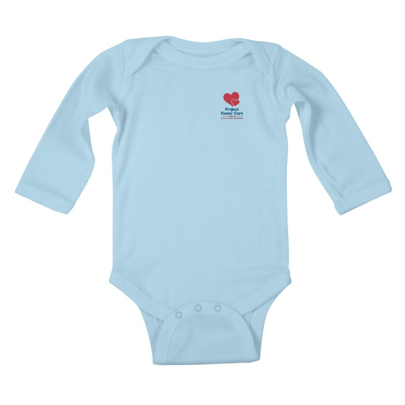 Logo Products in Kids Baby Longsleeve Bodysuit Powder Blue by Project Foster Care - Home of Foster Care Warriors
