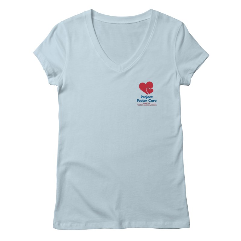 Logo Products Women's V-Neck by Project Foster Care - Home of Foster Care Warriors