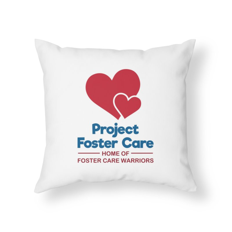 Logo Products in Throw Pillow by Project Foster Care - Home of Foster Care Warriors