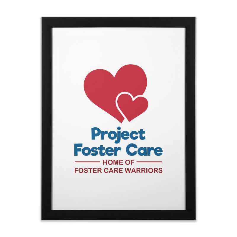 Logo Products Home Framed Fine Art Print by Project Foster Care - Home of Foster Care Warriors