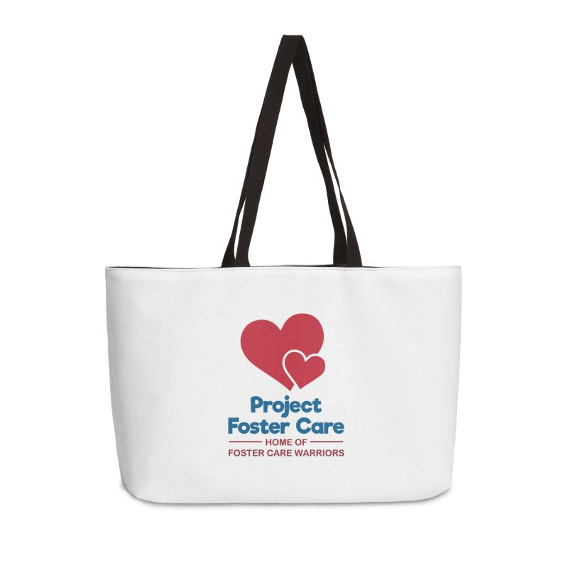 Logo Products in Weekender Bag by Project Foster Care - Home of Foster Care Warriors