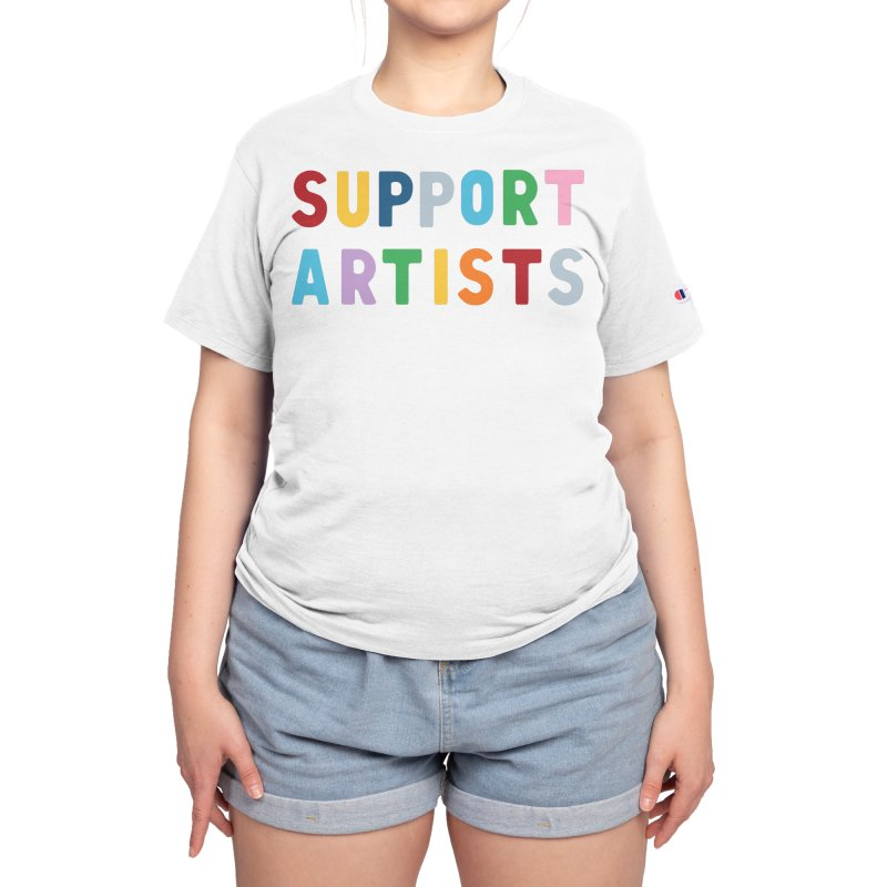 Support Artists Women's T-Shirt by Emeline