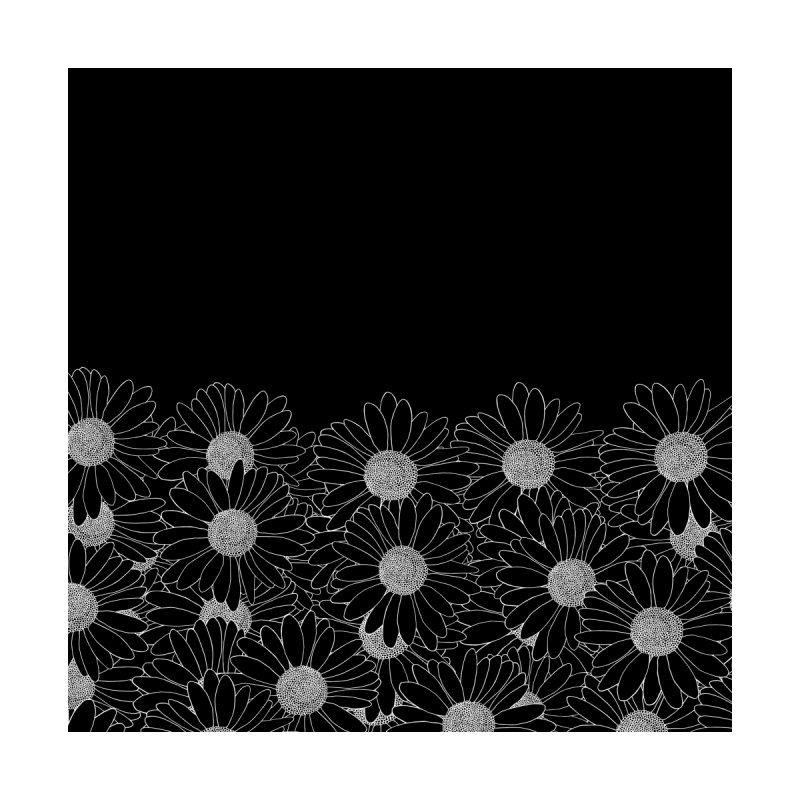 Daisy Boarder Black Home Rug by Emeline
